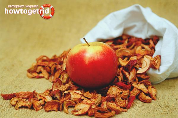 Сушёные яблоки при диабете