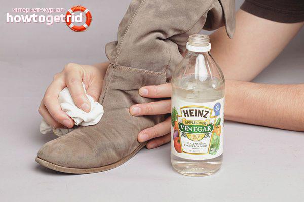Как почистить замшу уксусом
