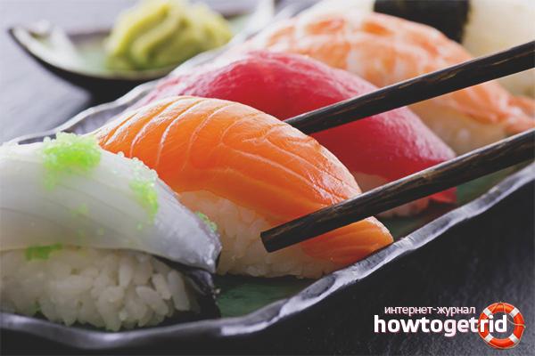Как правильно употреблять суши