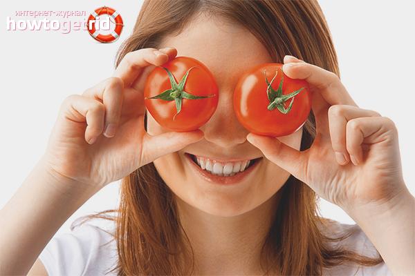 Маски из помидор для лица