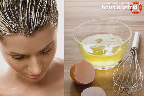 Маски с яйцом для укрепления волос