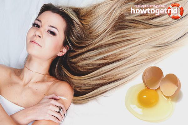 Маски с яйцом для усиления роста волос