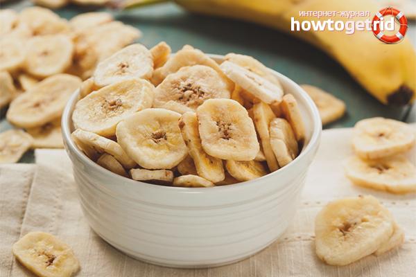 Польза и вред сушеных бананов