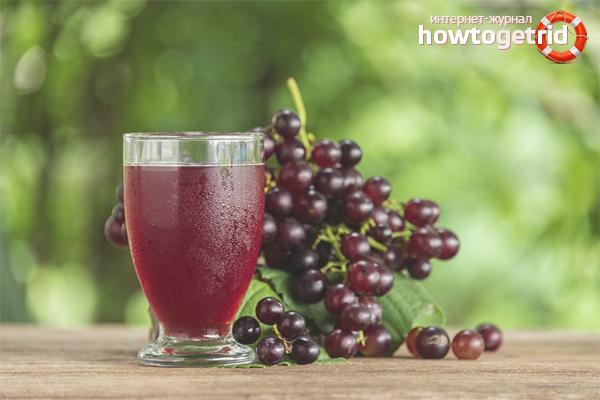 Польза виноградного сока при заболеваниях