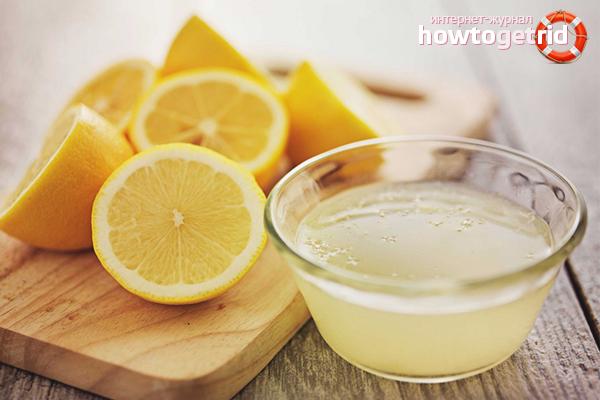 Сок лимона для ополаскивания волос