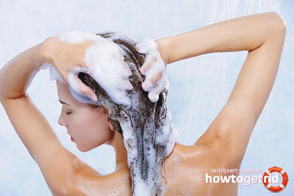 Техника мытья волос