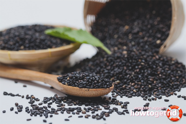 Вред черных кунжутных семян