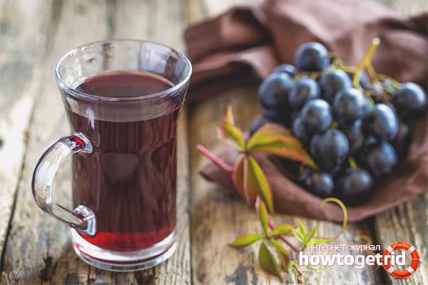 Вред виноградного сока