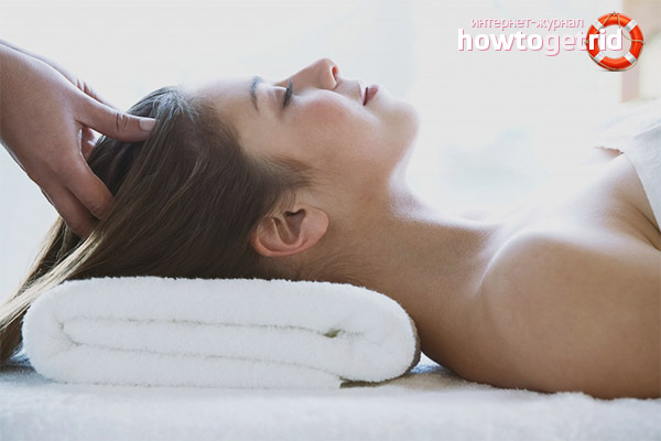 Как делать массаж головы для укрепления волос