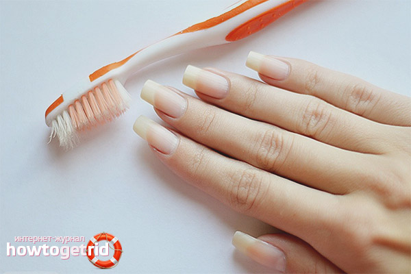 Как убрать грязь из под ногтей