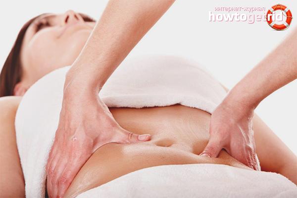 Массаж для подтяжки кожи на животе