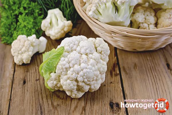 Полезные свойства и противопоказания цветной капусты