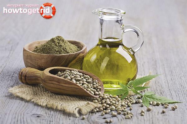 Полезные свойства и противопоказания конопляного масла