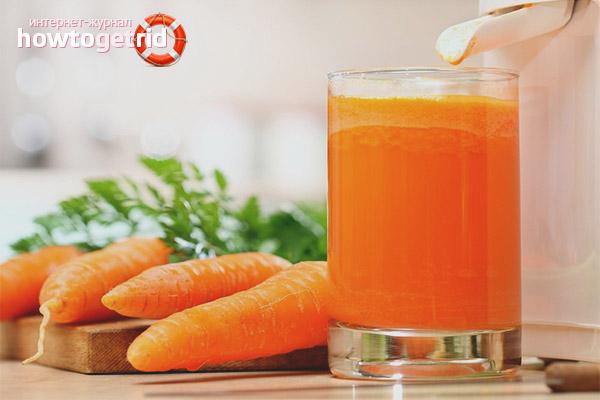 Противопоказания морковного сока
