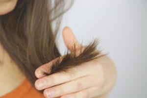 Сухие кончики волос