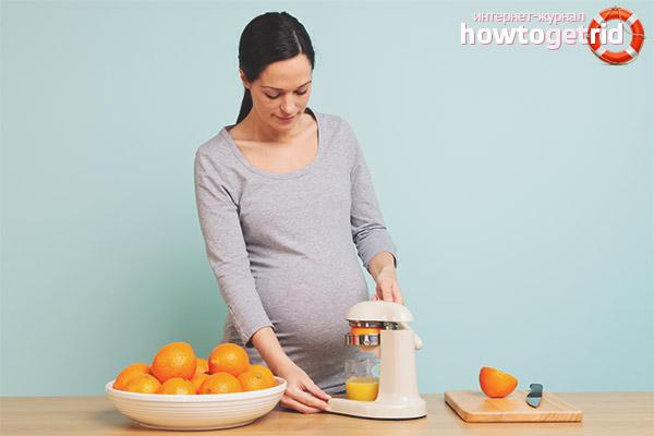 Апельсиновый сок при беременности