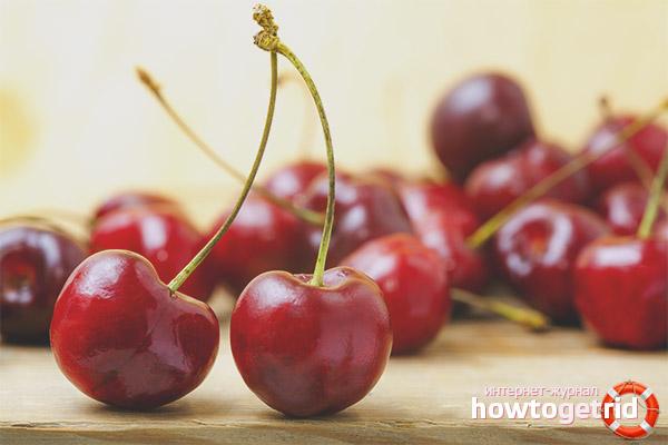 Использование вишни в народной медицине