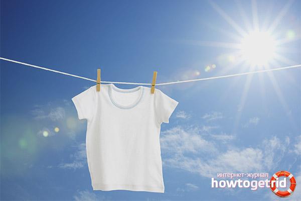 Как отбелить белую футболку