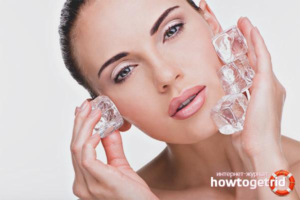 Кубики льда для лица от морщин