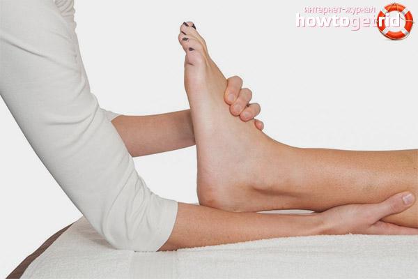 Лечение болей в голеностопном суставе