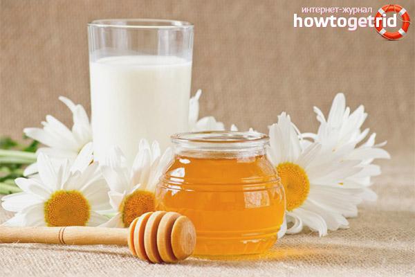 Мёд с молоком от кашля