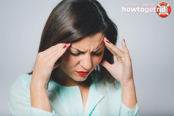Первая помощь при приступе мигрени
