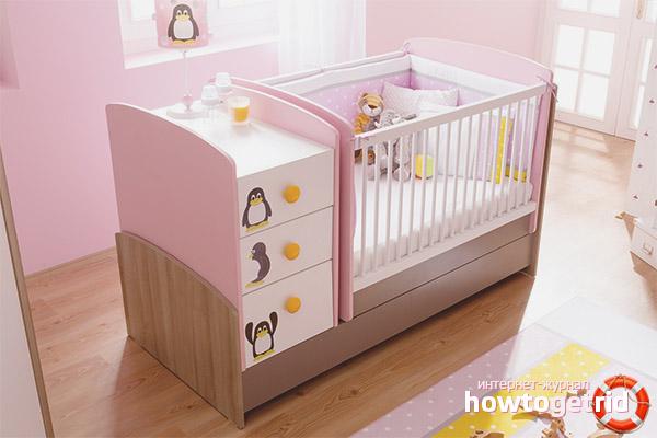 Разновидности кроваток для новорожденных