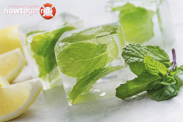 Рецепты льда для лица