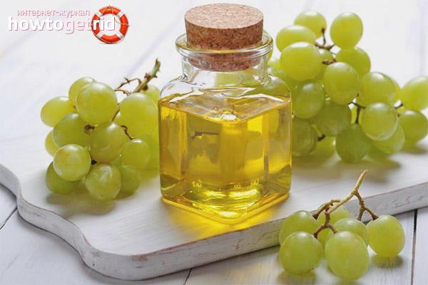 Виноградное масло против жирной кожи