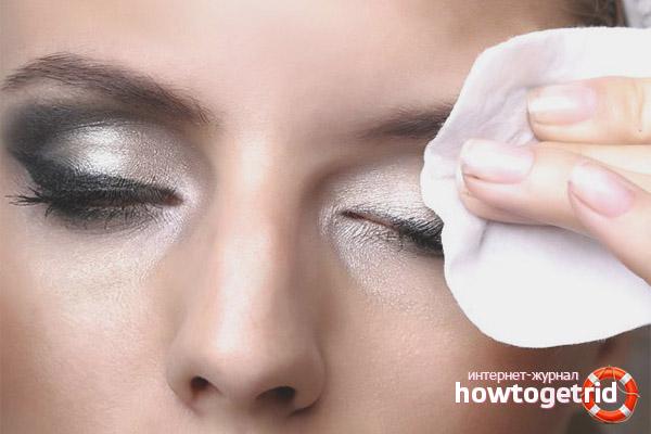 Вовремя снимайте макияж