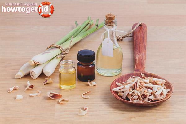 Использования масла лемонграсса