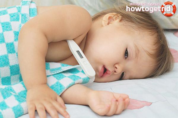 Как правильно понизить температуру ребенку