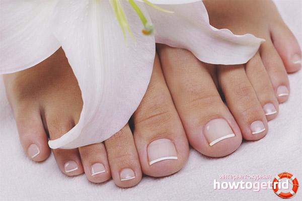 Как ухаживать за ногтями на ногах