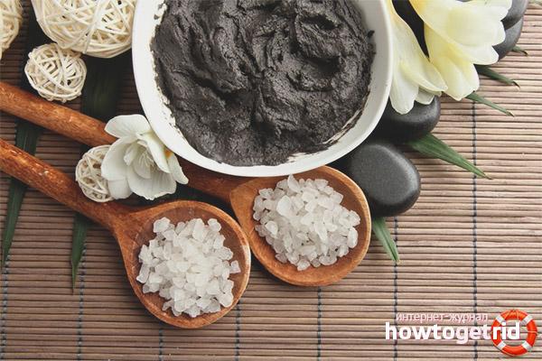Маски от целлюлита с черной глиной