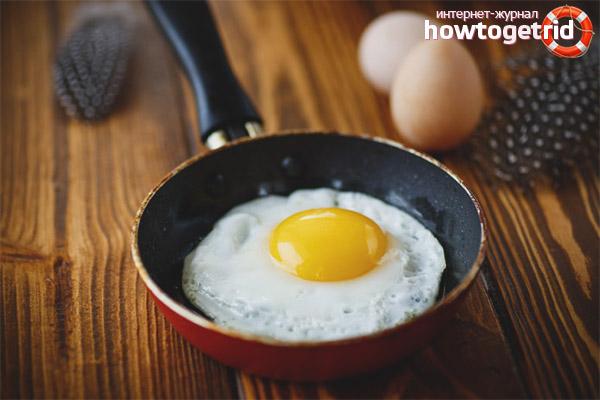 Польза и вред жареных яиц