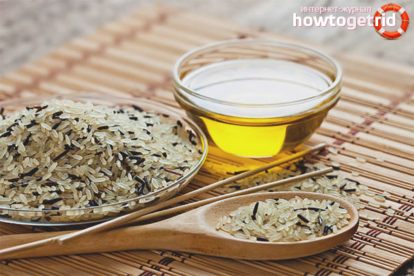Польза рисового масла