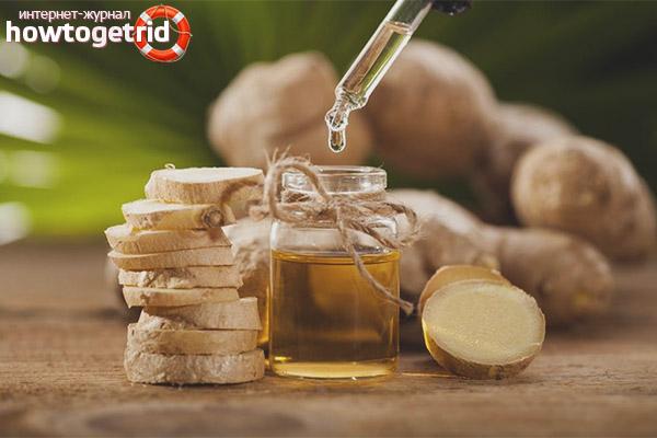 Рецепты с использованием масла имбиря