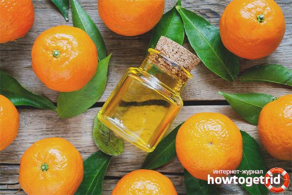 Сферы применения мандаринового масла