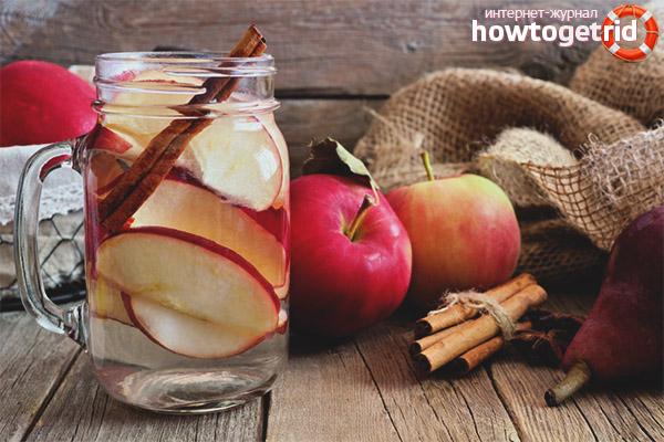Водный напиток с корицей и яблоками