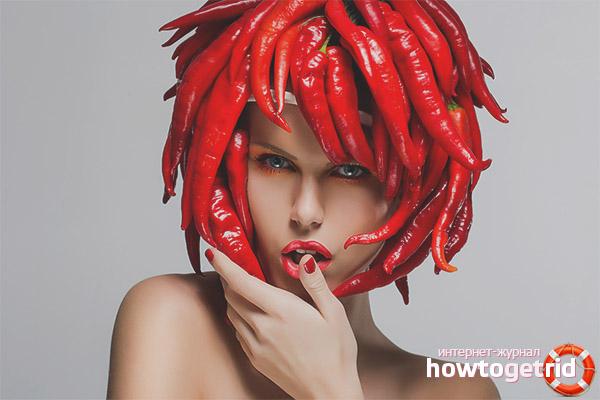 Жгучие маски против выпадения волос
