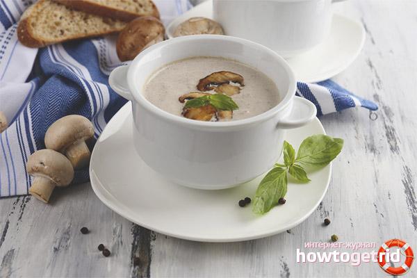 Грибной суп при грудном вскармливании