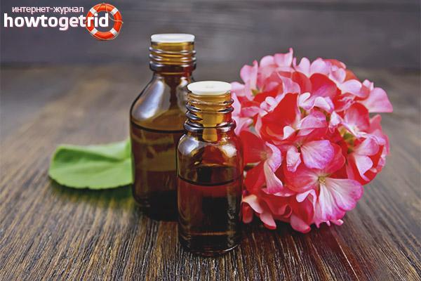 Эфирное масло герани для волос