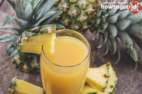 Как приготовить ананасовый сок