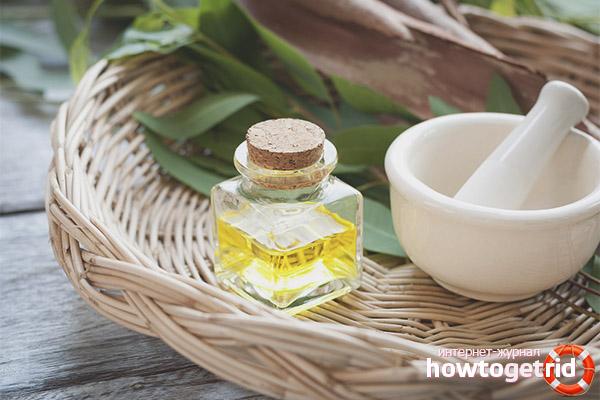 Компрессы на основе масла эвкалипта