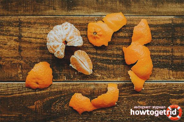 Кожура мандаринов как лекарство от бессонницы