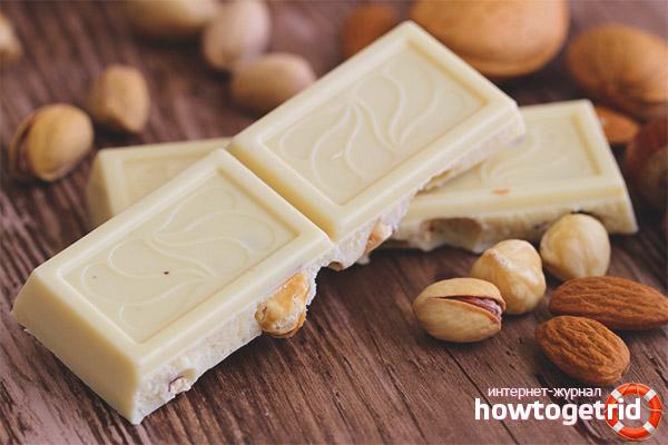 Польза и вред белого шоколада