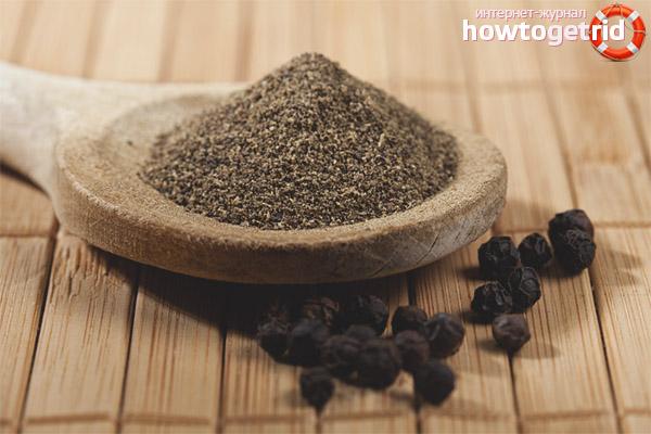 Польза и вред черного молотого перца