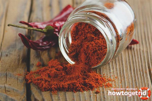 Польза и вред красного молотого перца