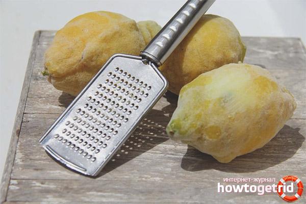 Польза и вред замороженного лимона