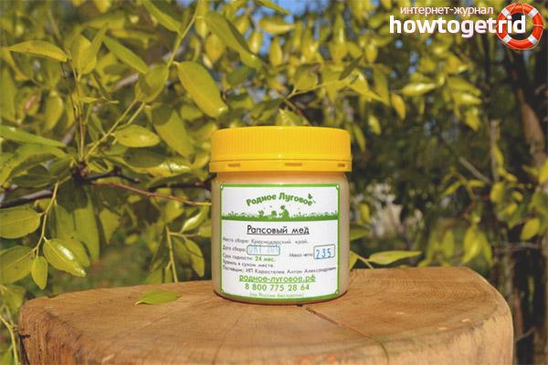 Польза рапсового мёда